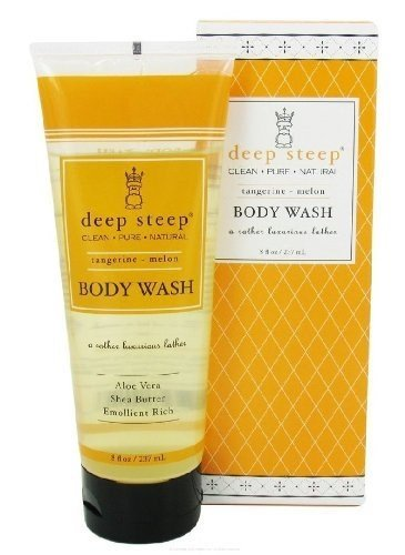 DEEP STEEP by Deep Steep TANGERINE-MELON ORGANIC SHEA BUTTER BODY WASH 8 OZ