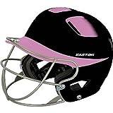 Easton Natural Two-Tone Junior Batting Helmet with Mask, Black/Pink