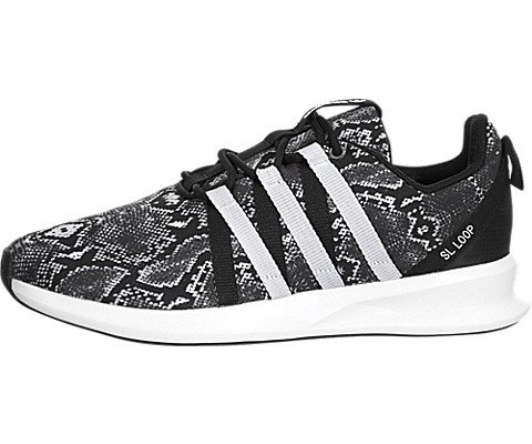 Adidas Originals Women's SL Loop Racer W Fashion Sneaker, Black/White/Black, 8 M US