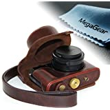 """MegaGear """"Ever Ready"""" Protective Black Leather Camera Case, Bag for Leica D-LUX (Typ 109) Digital Camera (Dark Brown)"""