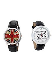 Gledati Men's Multicolor Dial And Foster's Women's White Dial Analog Watch Combo_ADCOMB0001881