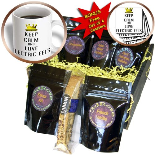 Cgb_121040_1 Blonde Designs Gold Crown For Keep Calm Love Animals - Gold Crown Keep Calm And Love Electric Eels - Coffee Gift Baskets - Coffee Gift Basket