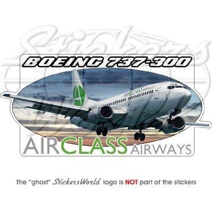 boeing-737-300-airclass-airways-avion-bumper-adhesivo-adhesivo-de-vinilo-de-63-160-mm