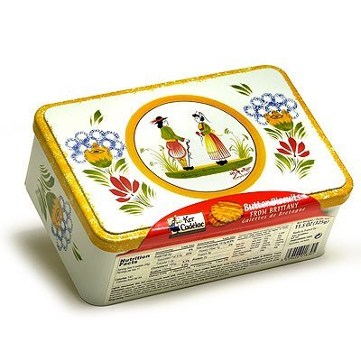Ker Cadelac Butter Galettes in Quimper, 11.5-Ounce Tin (French Foods compare prices)