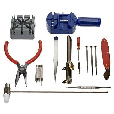 Generic 16pcs Deluxe watch opener tool kit repair pin Remover 6955170801480