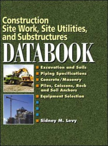 Construction Site Work, Site Utilities And Substructures Databook