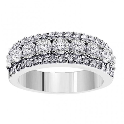 2.00 CT TW Prong Set Round Diamond Anniversary