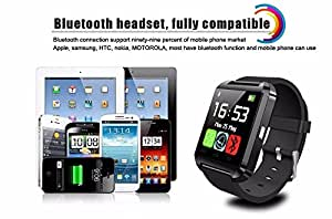 Link Plus U8 Smart Watch(Wireless Connectivity, BT Camera. Receive Notifications from Facebook, Whatsapp, QQ, WeChat, Twitter, Fitness & Activity Tracker, Time Schedule, Read Message or News, Sports, Health, Pedometer, Sedentary Remind & Sleep Monitoring. Digital Touch Screen Display, Loud Speaker, Mic & Multi-Language Support For Redmi Note 3