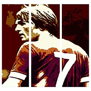 Kenny Dalglish Liverpool Fc Giant Three Piece Canvas Art Print - Framed Stunning Print At A Great Low Price from EDDIE JOSEPH