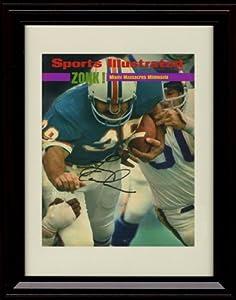 Framed Larry Csonka Sports Illustrated Autograph Print - Miami Dolphins Super Bowl IX... by Framed Sport Prints