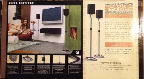 Image of Atlantic - Deluxe Satellite - Speaker Stands (B0097YBUH2)