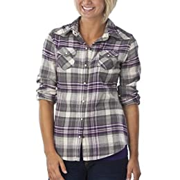 Product Image Mossimo Supply Co. Juniors Flannel Top - Purple/Grey Plaid