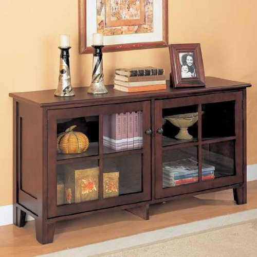 Cheap Cappuccino Finish Home Office Console Table (B004SZ6TEO)