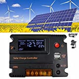 MOHOO 10A 12V 24V Auto Switch LCD Intelligent Solar Panel Battery Regulator Charge Controller Overload Protection Temperature Compensation