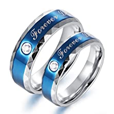 """buy Amazing Titanium Stainless Steel """"We Love Each Other"""" Wedding Band Set Anniversary/Engagement/Promise/Couple Ring Best Gift!***Please Select Ring Size From Style Option Below"""