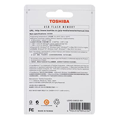 TOSHIBA MINI PEN DRIVE 8GB WHITE