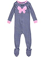 Carter's Baby Girls' Striped Footie (Baby) - Heart