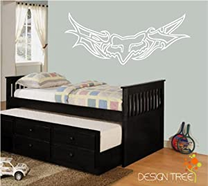 Motorcross dirt bike fox racing wall sticker for Dirt bike bedroom ideas