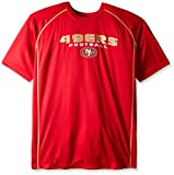 NFL San Francisco 49ers Men's Short Sleeve Synthetic Screen Tee, 3X, Red