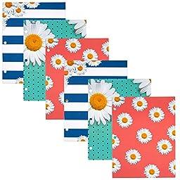 Mead 2-Pocket Folders, Assorted Pretty Please Designs, 6 Pack (73071)
