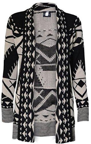 Miss High Street Skull Print Open Knitted Cardigan