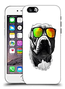Snoogg Dog With Glares Designer Protective Back Case Cover For IPHONE 7