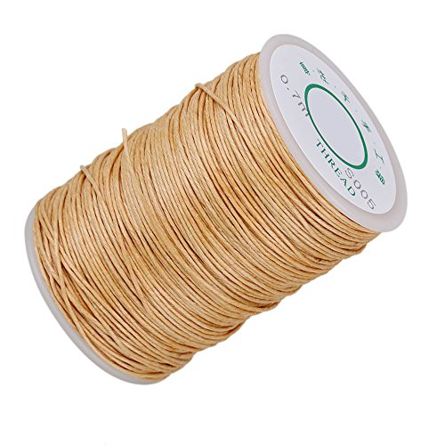 CNBTR 0.7mm 100m Natural Hemp Waxed Thread Round Cord Strong Handwork Leather Craft Sewing Wax Line (Beige) (Hemp Wire compare prices)