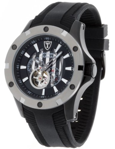 Detomaso Gents Watch Carrara Automatic Black Silicone Dt1018-A