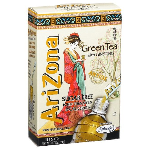 Arizona Green Tea w/ Ginseng Sugar Free Iced Tea Stix - 0.7 oz - 10 ct (Arizona Ice Tea Stix compare prices)