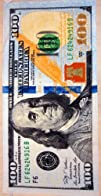 New 100 Dollar Bill Velour Beach Towel 30X60  MADE IN BRAZIL