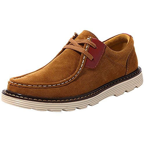 Vonfon Men Genuine Leather Leisure Style Breathable Fashion Oxfords Shoes