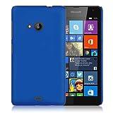 WOW Imagine Matte Rubberised Hard Case Back Cover For Nokia Lumia 535 (Blue)