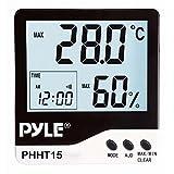 Pyle PHHT15 Hygro-thermomètre d'intérieur à affichage digital Blanc...