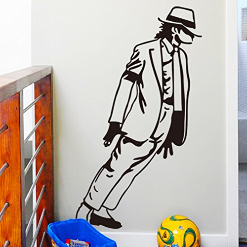 [Weike Superstar Michael Jackson Moonwalk Dance Removable Wall Stickers Home Decoration Art Decal Size:] (Michael Jackson Decorations)