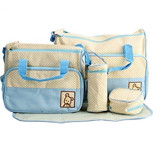 Multi-Function Fashionable Baby Diaper Bag Blue 25000708