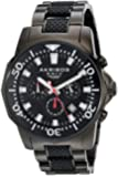 Akribos XXIV Men's AK561BK Conqueror Black Stainless Steel Divers Chronograph Watch