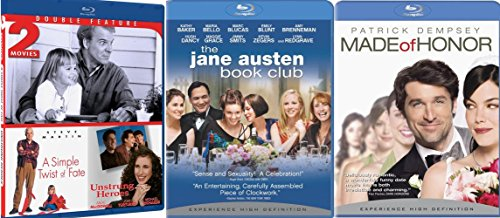 Made of Honor & The Jane Austen Book Club + A Simple Twist of Fate & Unstrung Heroes Romance Movie Blu Ray Set Four Love Feature Date Set
