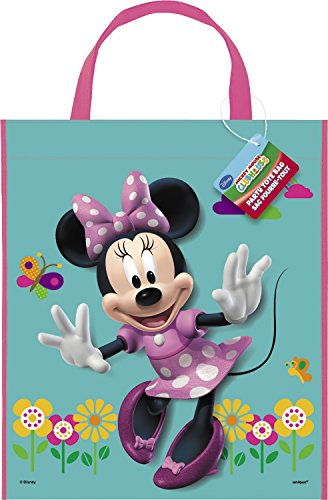 """Unique Large Plastic Minnie Mouse Favor Bag, 13"""" x 11"""""""