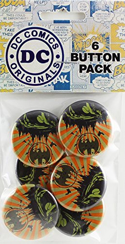 Button set DC Comics Batman Batmobile 6 Individual Loose Buttons, 1.25""