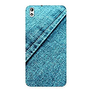 Stylish Denim Diagnal Print Back Case Cover for HTC Desire 816s