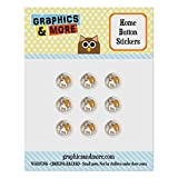 Set of 9 Puffy Bubble Home Return Button Stickers Fit Apple Devices: (iPod Touch, iPad 1 2 3 4 Air Mini, iPhone 3/3GS 4/4s 5/5c/5s 6/6s Plus) - Dog Puppy - English Bulldog