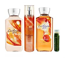 buy Bath & Body Works Cashmere Glow 8 Oz Diamond Shimmer Mist, 8 Oz. Body Lotion & 10 Oz. Shower Gel Gift Set With A Jarosa Beauty Bee Organic Natural Peppermint Lip Balm