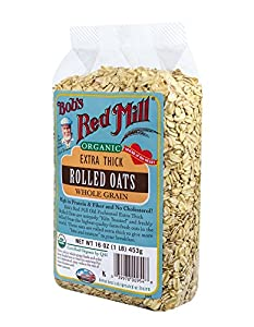 Bob's Red Mill Organic Oats Rolled Thick, 16-Ounce (Pack of 4)