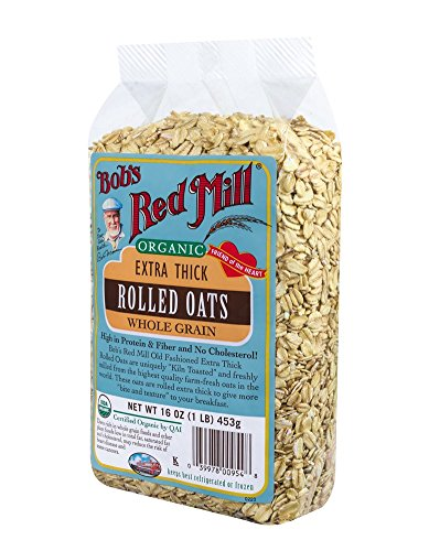 Bob's Red Mill Organic Oats Rolled Thick, 16-oz (4-Pack)