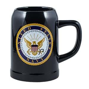 Amazon Com United States Navy Stoneware 17 Ounce Mug