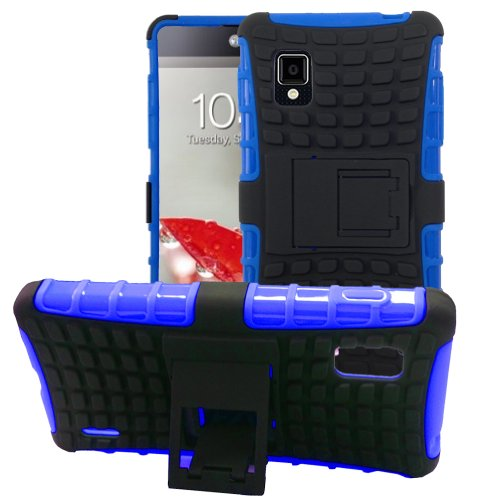 JKase DIABLO Series Tough Rugged Dual Layer Protection Case Cover with Build in Stand for LG Optimus G LS970 (SPRINT Only, Will NOT Fits AT&T Version) - Retail Packaging - Blue (Lg Ls970 Case compare prices)