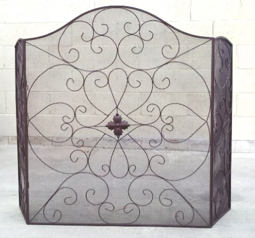 Elegant decorative metal fireplace screen home garden wood Decorative fireplace screens