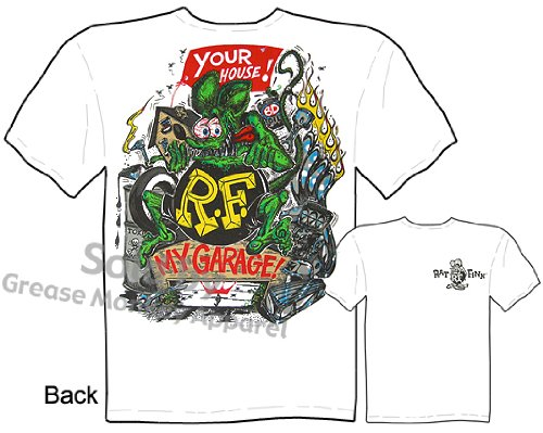 SIZE Large Rat Fink Shirts Your House, My Garage Rat Fink T Shirt Big Daddy T