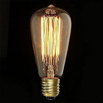 lampadina a incandescenza : E27 Vintage Lampadina Vecchio Edison Bulbo Lampadina A Incandescenza ...