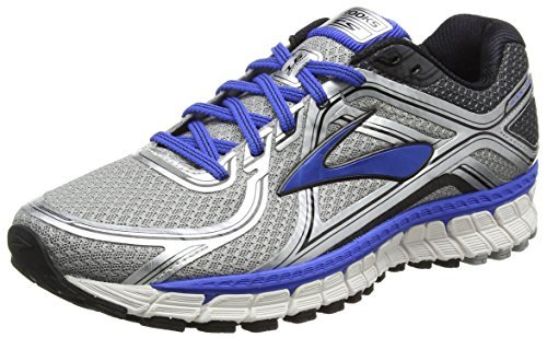 Brooks Men's Adrenaline GTS 16 Silver/Electric Brooks Blue/Black Sneaker 10.5 4E - Extra Wide (Mens Extra Wide Running Shoes compare prices)